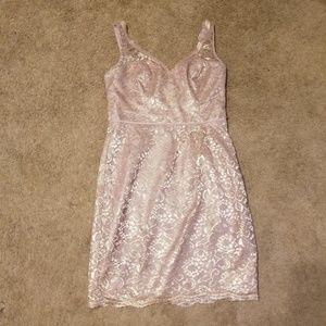 David's Bridal Size 10 Rose Gold Bridesmaid Dress